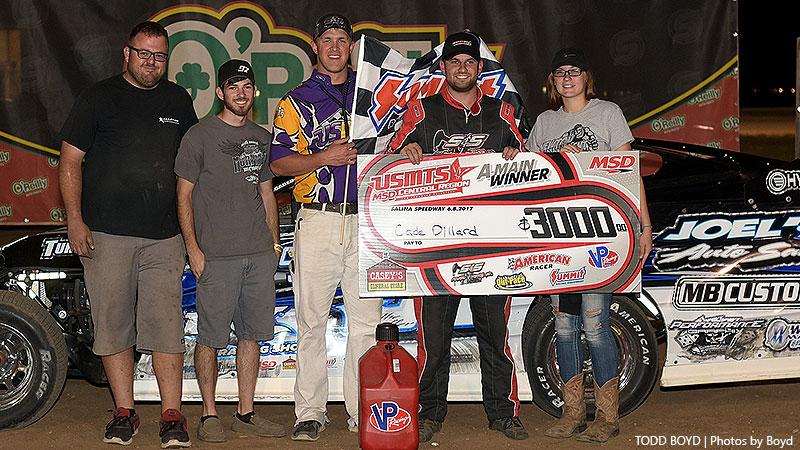 Dillard tames Salina Speedway for 18th career USMTS victory