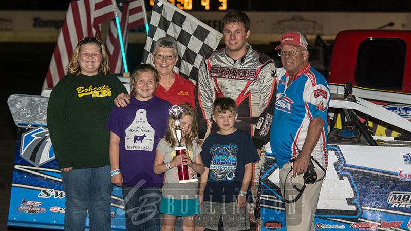 Schott captures Charlie Kraft Memorial at Lakeside Speedway