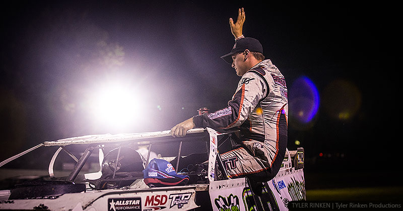 'Cool Hand Luke' enjoys Friday night feast at Fayette County Speedway