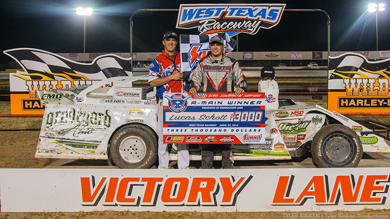 Schott wins at West Texas Raceway