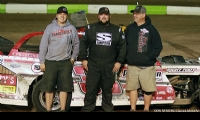 Zack VanderBeek won the Rancho Milagro USRA Modified feature on the second night of the 18th Annual Rancho Milagro USRA Fall Nationals at the Southern New Mexico Speedway on Saturday, Oct. 21, 2017.